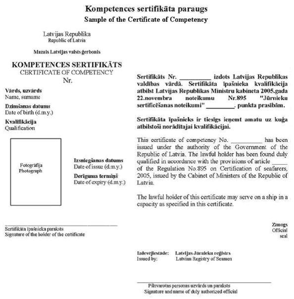 Jūrnieku sertificēšanas noteikumi
